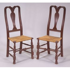Pair of Queen Anne Painted Side Chairs
