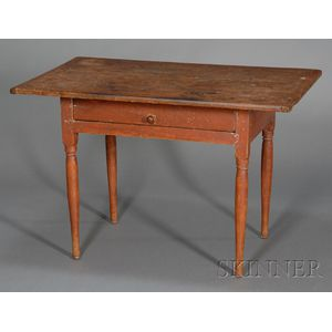 Maple and Pine Red-painted Pine Tavern Table