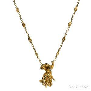 """18kt Gold """"Carmen La Crotalos"""" Necklace, Salvador Dali"""