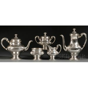 "Five-piece Tuttle Sterling ""Onslow"" Pattern Tea and Coffee Service"