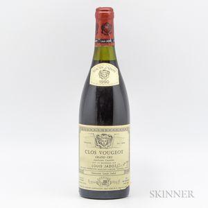 Jadot Clos Vougeot 1990, 1 bottle