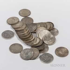 Thirty-three Peace Dollars