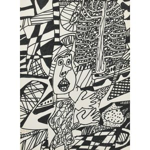 J. Jean Dubuffet (French, 1901-1985)      Situation LXXXXI (a l