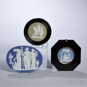 Three Assorted Wedgwood Jasper Plaques