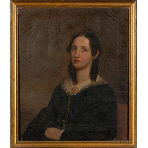 American School, 19th Century      Pair of Portraits of Mr. and Mrs. Daniel Emory Pratt of Beacon Hill, Boston.