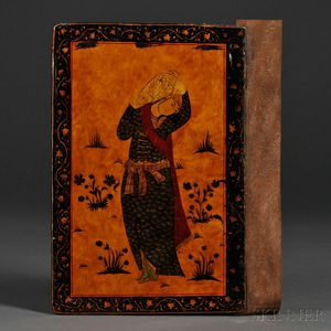 Persian Lacquered Book Covers.