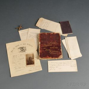 Military Records, Carte-de-visite, and Reference Book of Orlando Keen