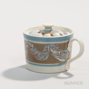 Pearlware Mustard Pot and Cover
