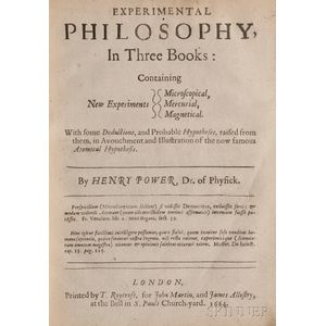 Power, Henry (1623-1668) Experimental Philosophy
