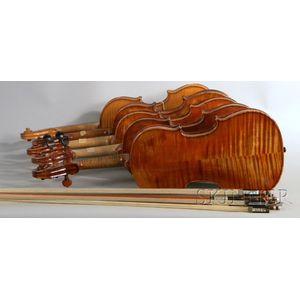 Seven Violins and Seven Violin Bows