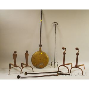 Seven Metal Hearth and Fireplace Items