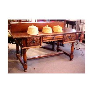 Iberian Baroque-style Hardwood Center Table.