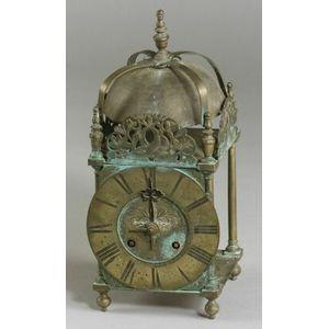 Continental Bronze Lantern Clock