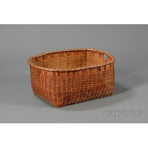 Painted Woven Splint Basket