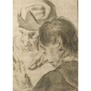 Manner of Giovanni Battista (Giambattista) Piazzetta (Italian, 1682-1754)    Figural Drawing