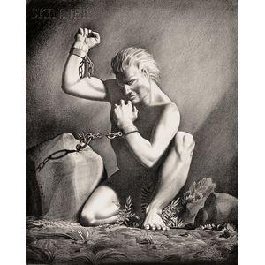 Rockwell Kent (American, 1882-1971)      Prometheus Unchained