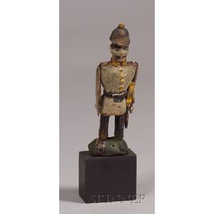 Small Carved and Polychrome Painted Soldier Figure
