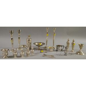 Group of Mostly Silver Weighted and Silver-plated Table Items