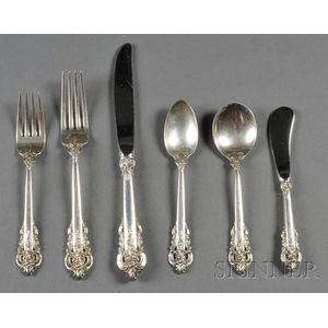 "Wallace ""Grand Baroque"" Pattern Partial Sterling Flatware Service for Twelve"