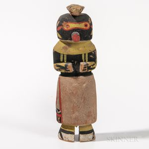 Zuni Polychrome Carved Wood Katsina Doll