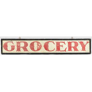 """Painted """"GROCERY"""" Sign"""