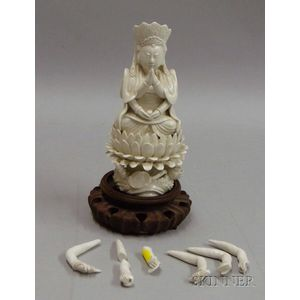 Chinese Export Blanc-de-Chine Figure of a Multi-armed Goddess