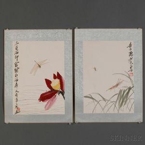 Set of Twelve Block Prints of Qi Baishi