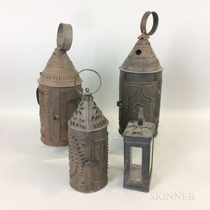 Four Tin Lanterns