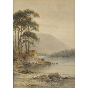 Emil Axel Krause (Danish, 1871-1945)      Friars Crag, Derwentwater