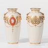 Pair of Minton Porcelain Pâte-sur-pâte Vases