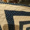 Geometric Blue and White Quilt