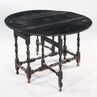 Black-painted Gate-leg Table