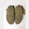 Pair of Crow Keyhole Beaded Hide Moccasins