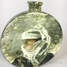 Glassed Ceramic Portrait Vase of a Veiled Woman