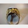 Arts & Crafts 14kt Gold and Hardstone Cameo Ring