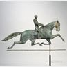 "Molded Copper and Cast Iron ""Dexter"" Horse and Rider Weathervane"