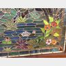 Framed Stained Glass Panel of a Watery Landscape