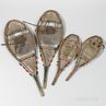 Two Pairs of Northeast Wood and Rawhide Snowshoes