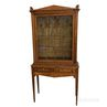 Country-style Glazed Tiger Maple Cabinet