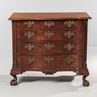 Fine and Rare Chippendale Carved Mahogany Reverse Serpentine Bureau