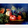 Continental School, 17th Century Style      Still Life with Fruit, Parrot, and Game Birds